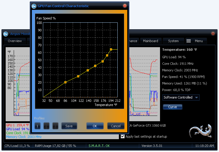 Argus Monitor Screenshots